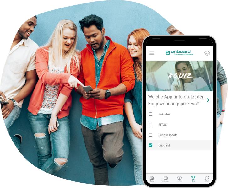 Integration neuer Mitarbeiter per app